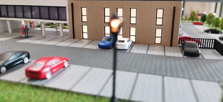 Parkplätze Modellbau