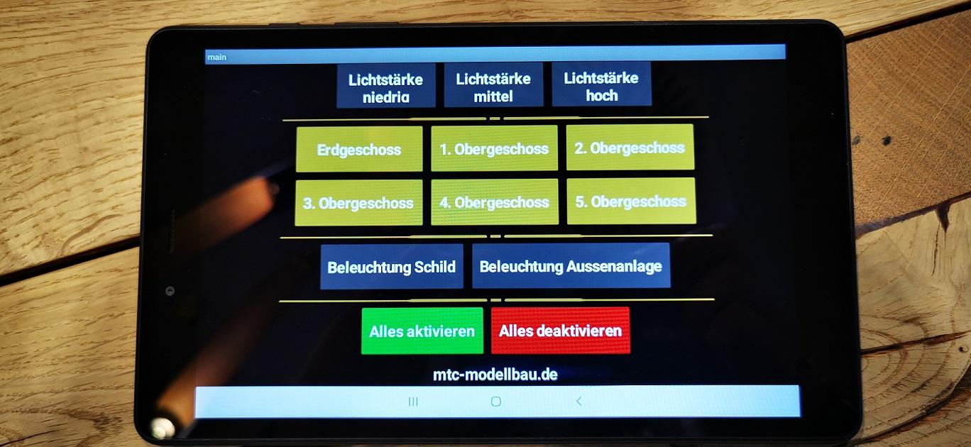 Tablet Modell Steuerung