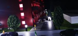 Architektur Modell mit Beleuchtung