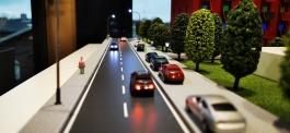 Modellbau mit Straßenverlauf