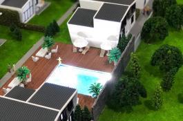 Schwimmbad Modellbau