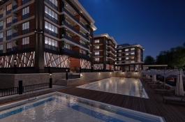 3D-Visualisierung Neubau mit Swimmingpool