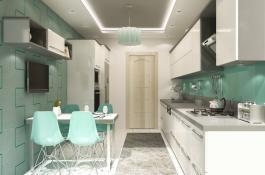 Visualisierung Immobilie Küche