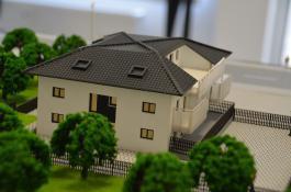 Architekturmodell Bauprojekt