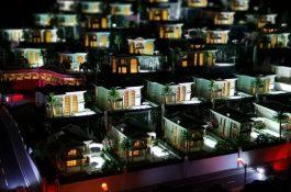 Modellbau Wohnquartier