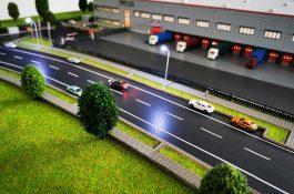 Modell für Halle