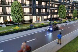 Modell Straßenverlauf