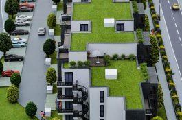 Modell mit Grünanlage